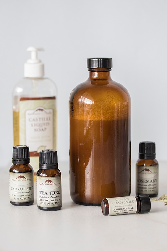 Herbal Hair Care + Herbal Shampoo Recipe