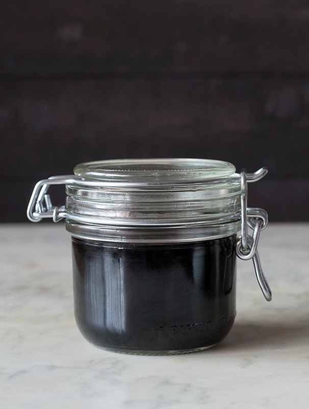 Elderberry Syrup in a glass ball jar