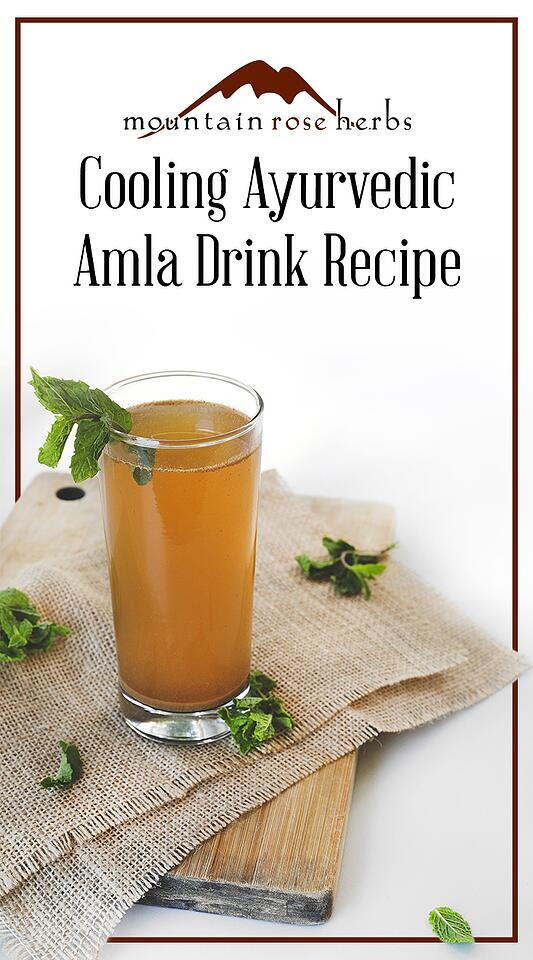 Cooling Ayurvedic Amla Drink Recipe Pin from Mountain Rose Herbs