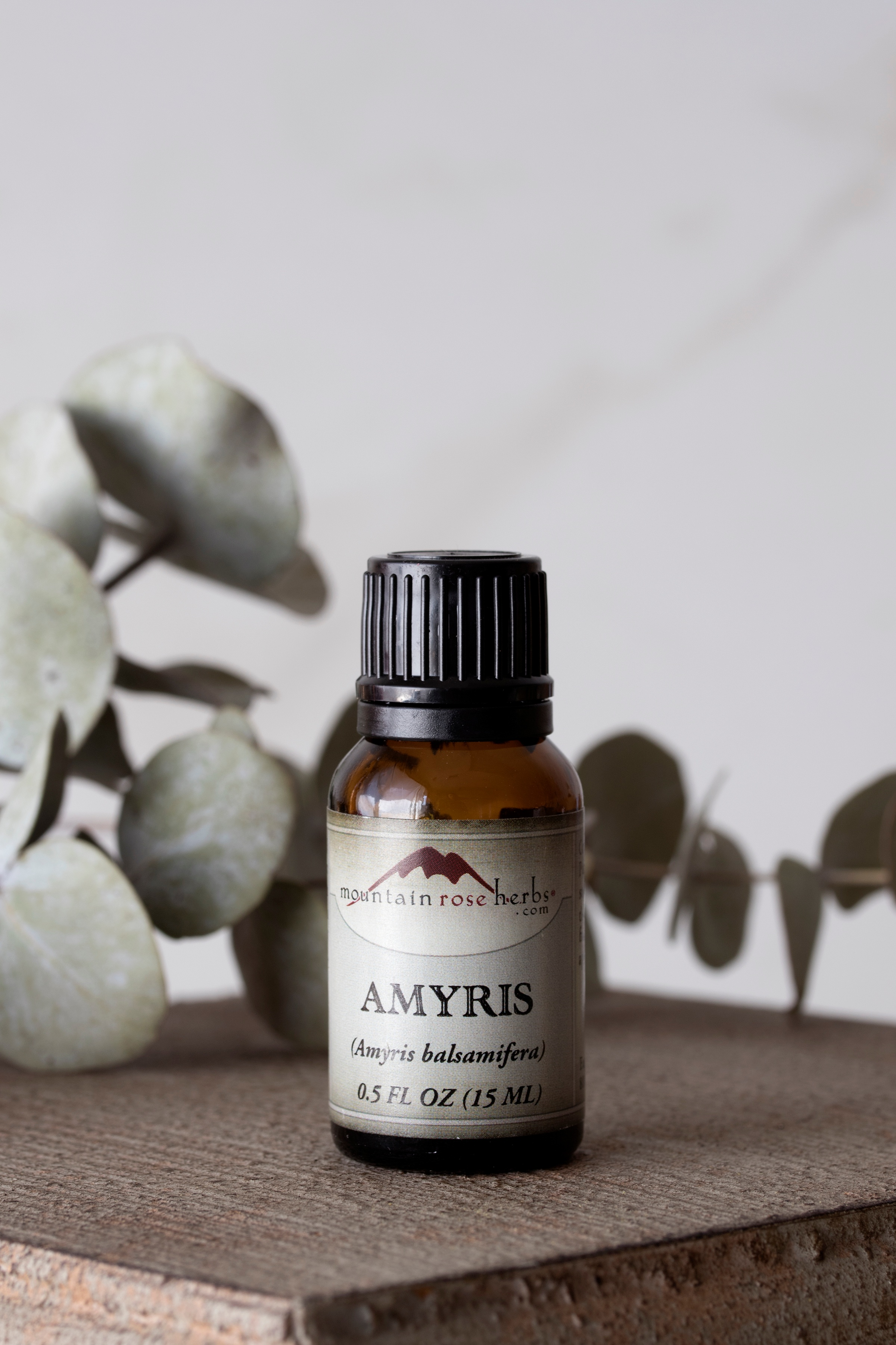 Amyris Essential Oil .5 oz bottle from Mountain Rose herbs
