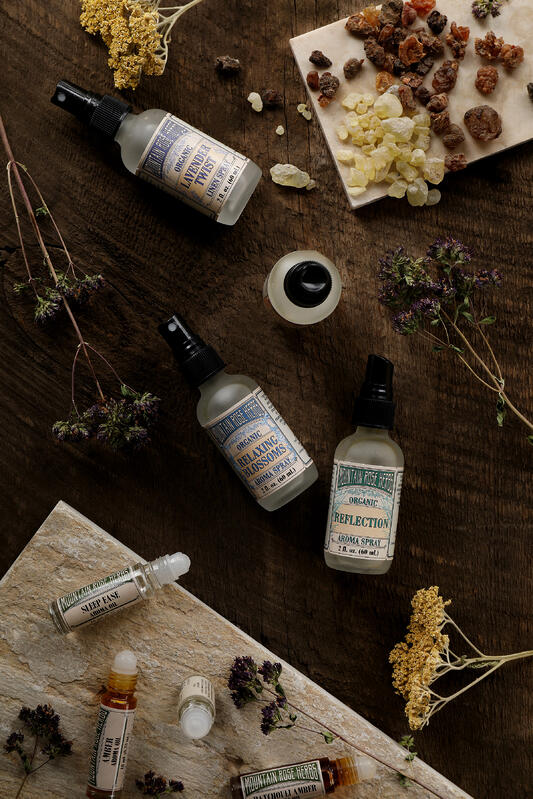 Gifts for aromatherapy lovers include aroma sprays and essential oil roll-ons. Even raw resins can be burned as incense, and other aroma roll-ons are great for those on the go.