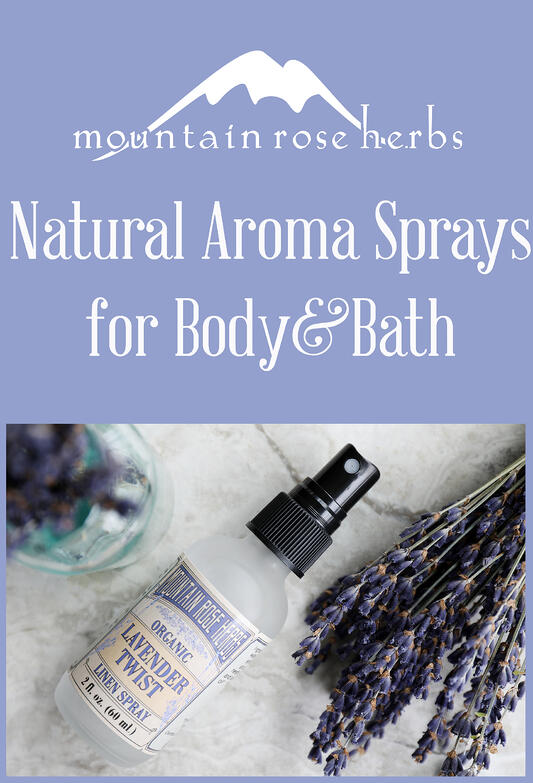 Pin to Natural Aroma Sprays for Bath and Body
