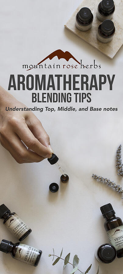 Fragrance Notes for Aromatherapy Pinterest Pin from Mountain Rose Herbs