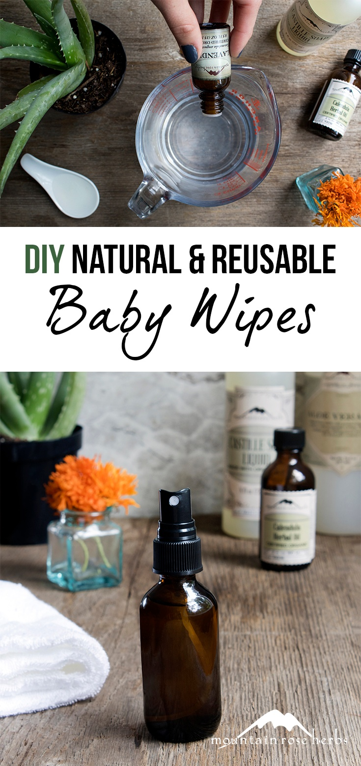 DIY Natural & Reusable Baby Wipes Pin