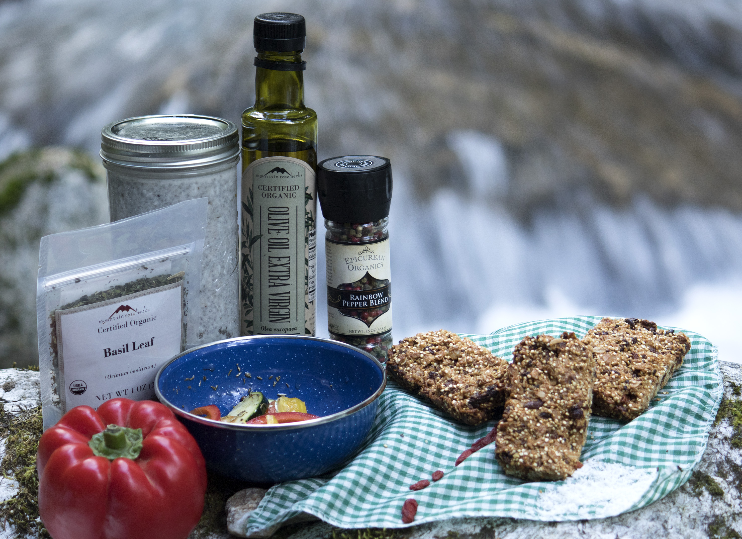 Culinary and sweet herbal snacks for camping and backpackign and eating outdoors