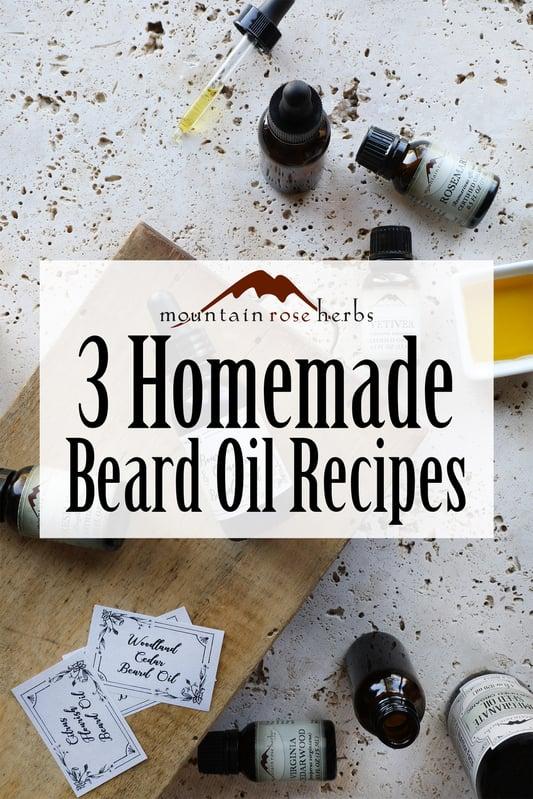 Pin to 3 Homemade Beard Oil Recipes