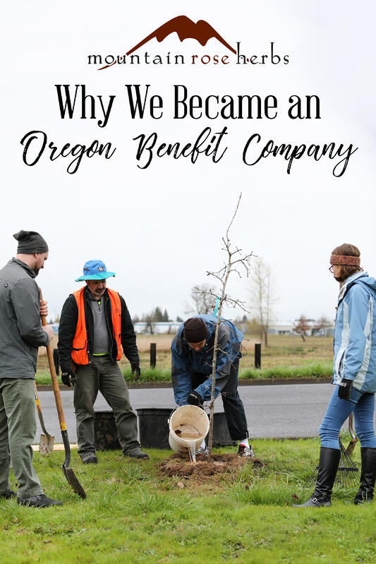 Pin to Why We Became an Oregon benefit company.