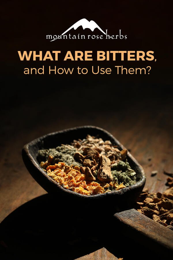 What are Digestive Bitters and How to Use Them Pinterest Pin for Mountain Rose Herbs