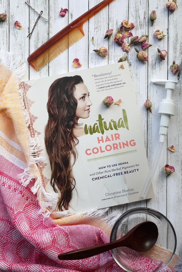 Natural Hair Coloring Book Cover with scarf and natural hair ingredients and comb