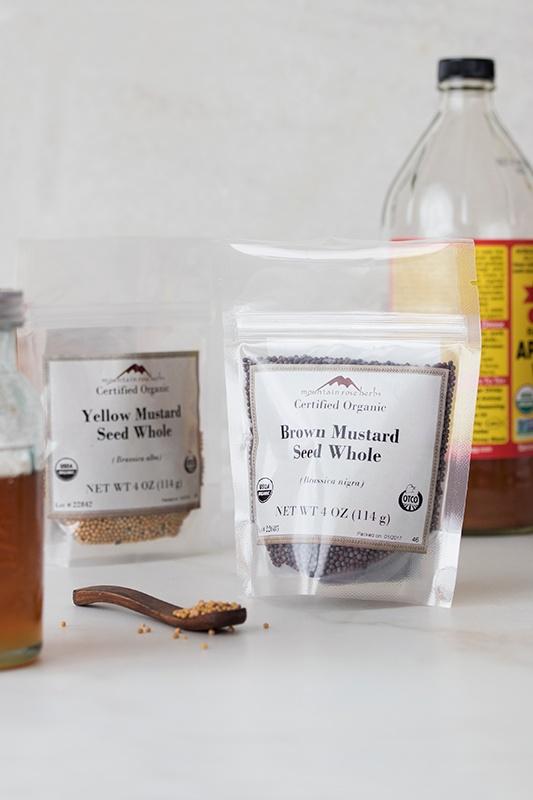 Brandied Mustard Ingredients