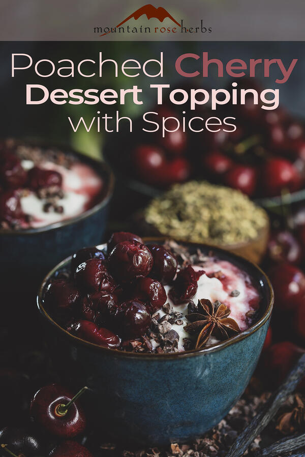 Pin to Poached Cherry Dessert Topping with Spices