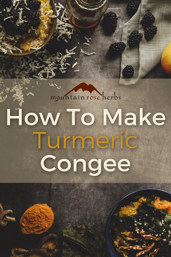 Pinterest Photo for How to Make Turmeric Congee