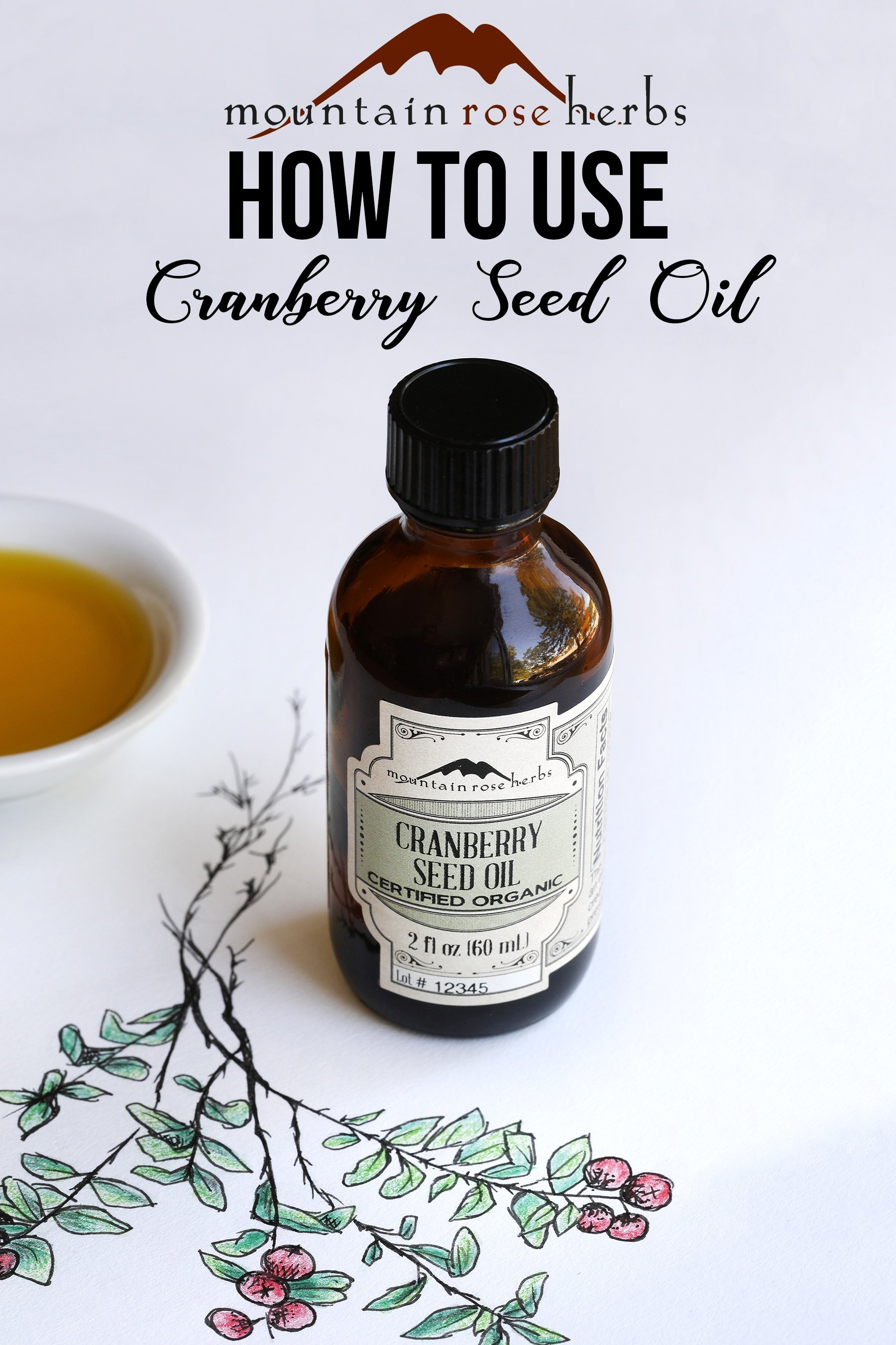 Cranberry Pin on How to use Cranberry seed oil