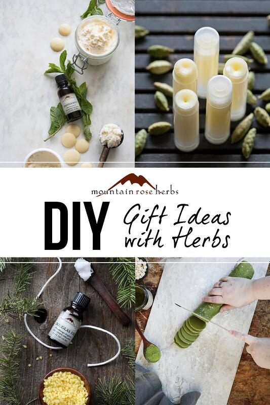 Pin to DIY Gift Ideas with herbs from Mountain Rose Herbs