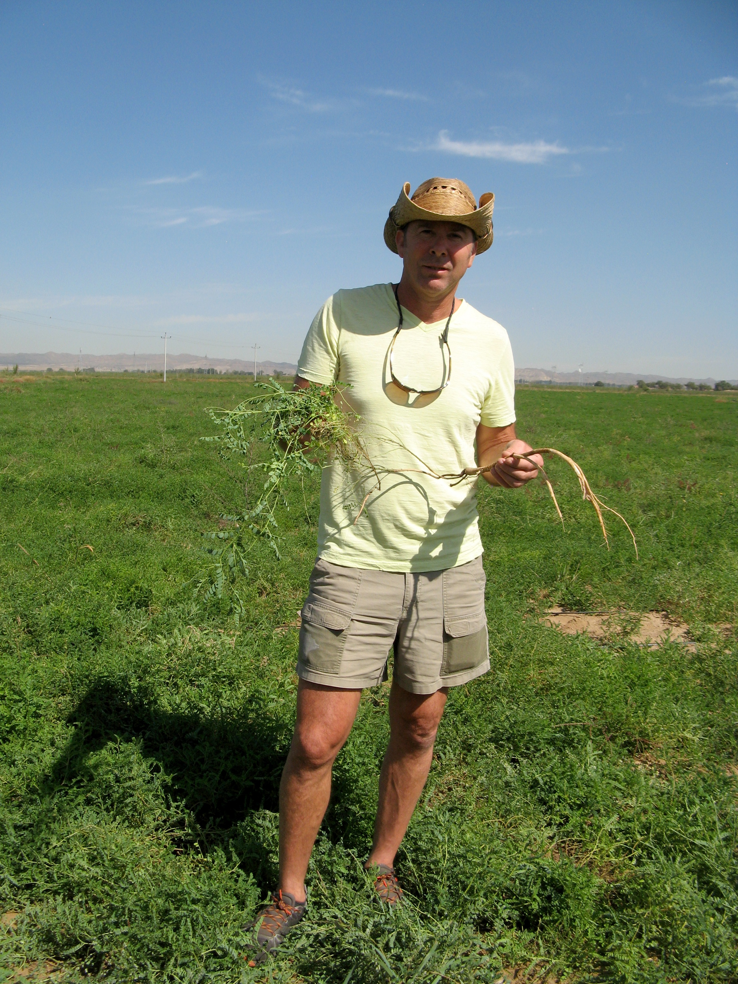 David with Astragalus Root in Inner Mongolia