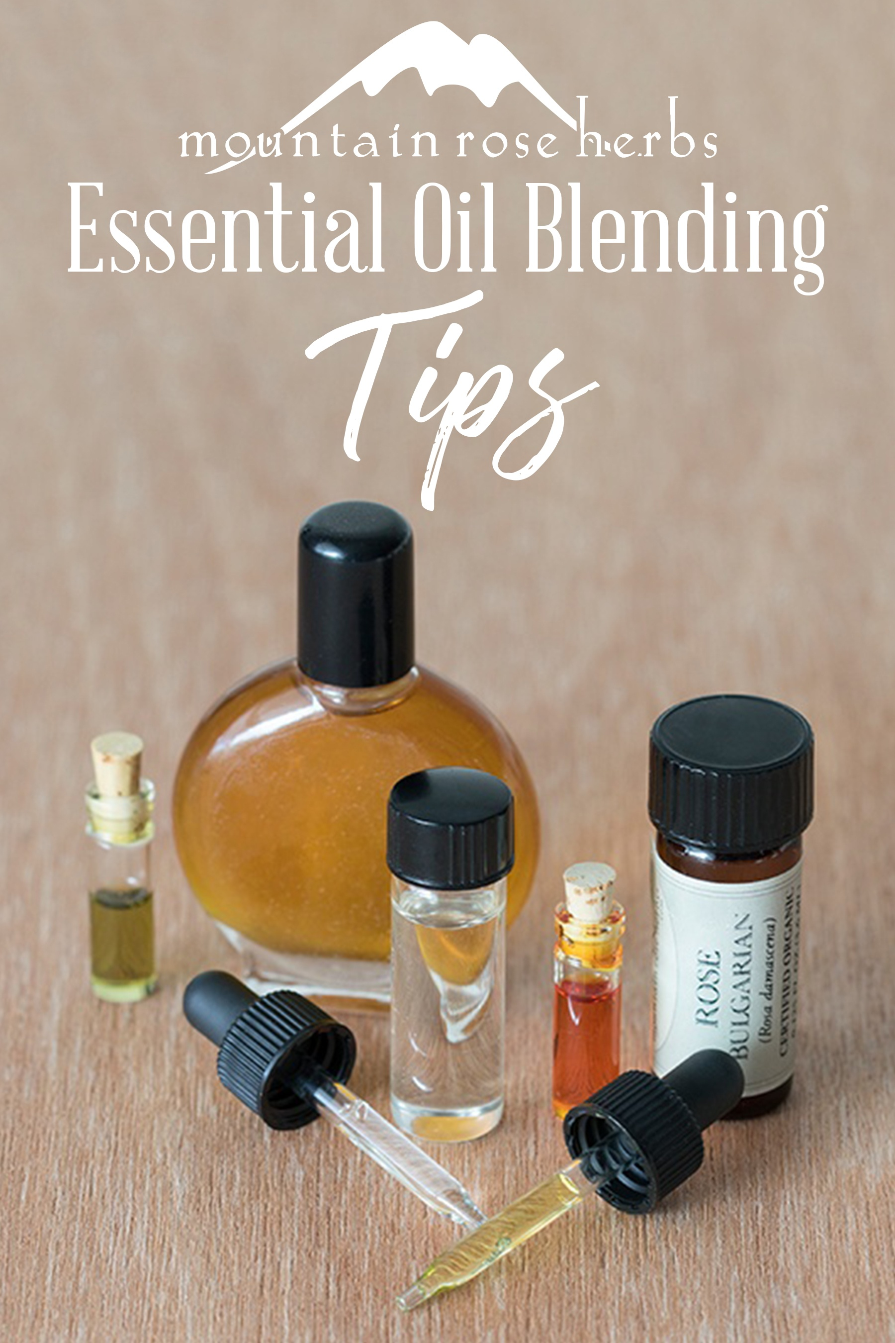 Make Your Own Natural Fragrances with Essential Oils Pinterest Pin from Mountain Rose Herbs