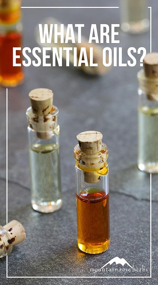 What Are Essential Oils Pin from Mountain Rose Herbs