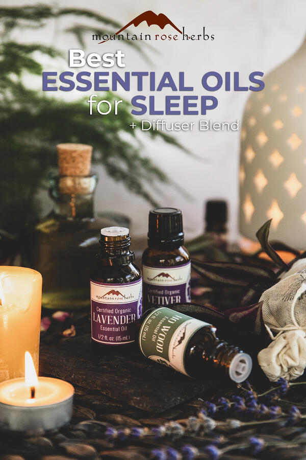 Essential Oils for Sleep Pinterest pin for Mountain Rose Herbs