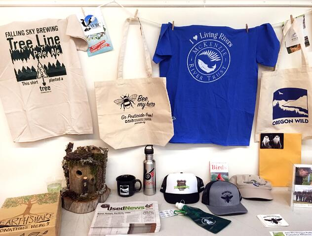 EarthShare Kickoff Goodies and prizes for employees who donate to environmental initiatives