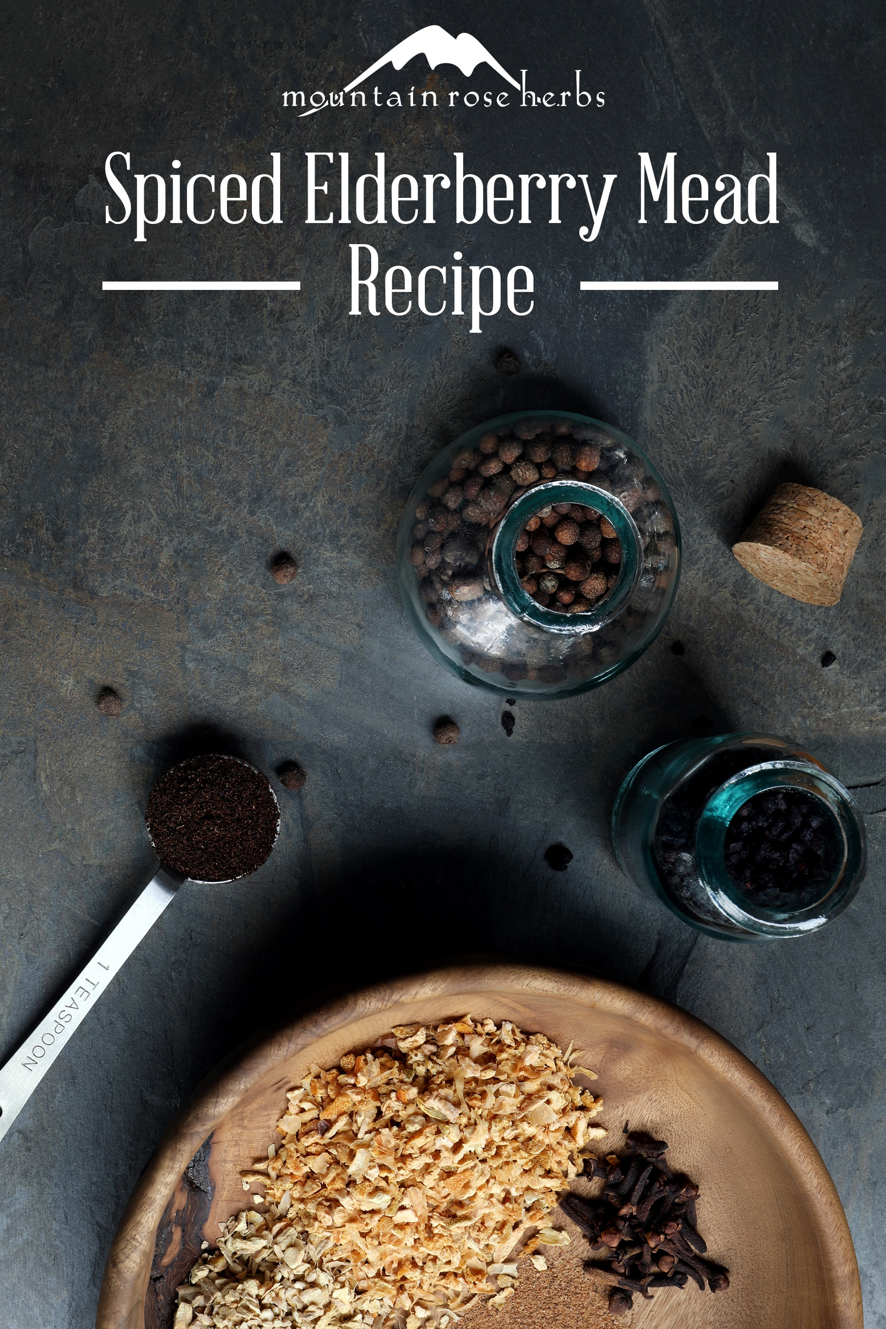 Spiced Berry Mead Pin for Pinterest from Mountain Rose Herbs