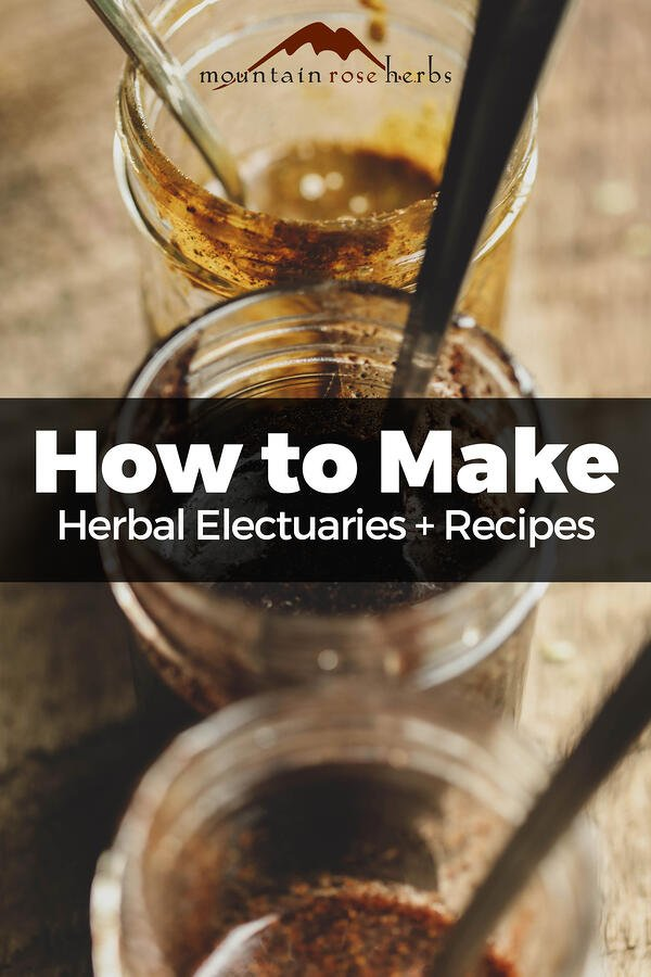 Electuaries in jars for Pinterest