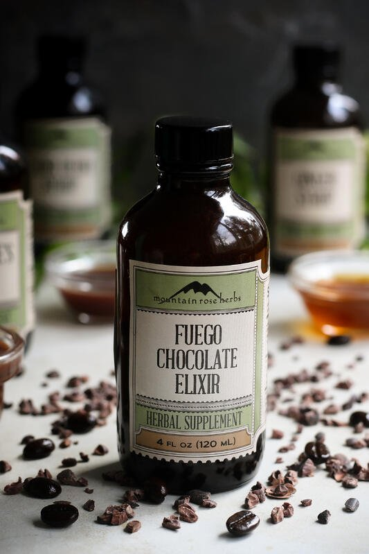 Mountain Rose Herbs' chocolate elixirs are made with organic and fair trade cacao blended with natural wellness herbs.
