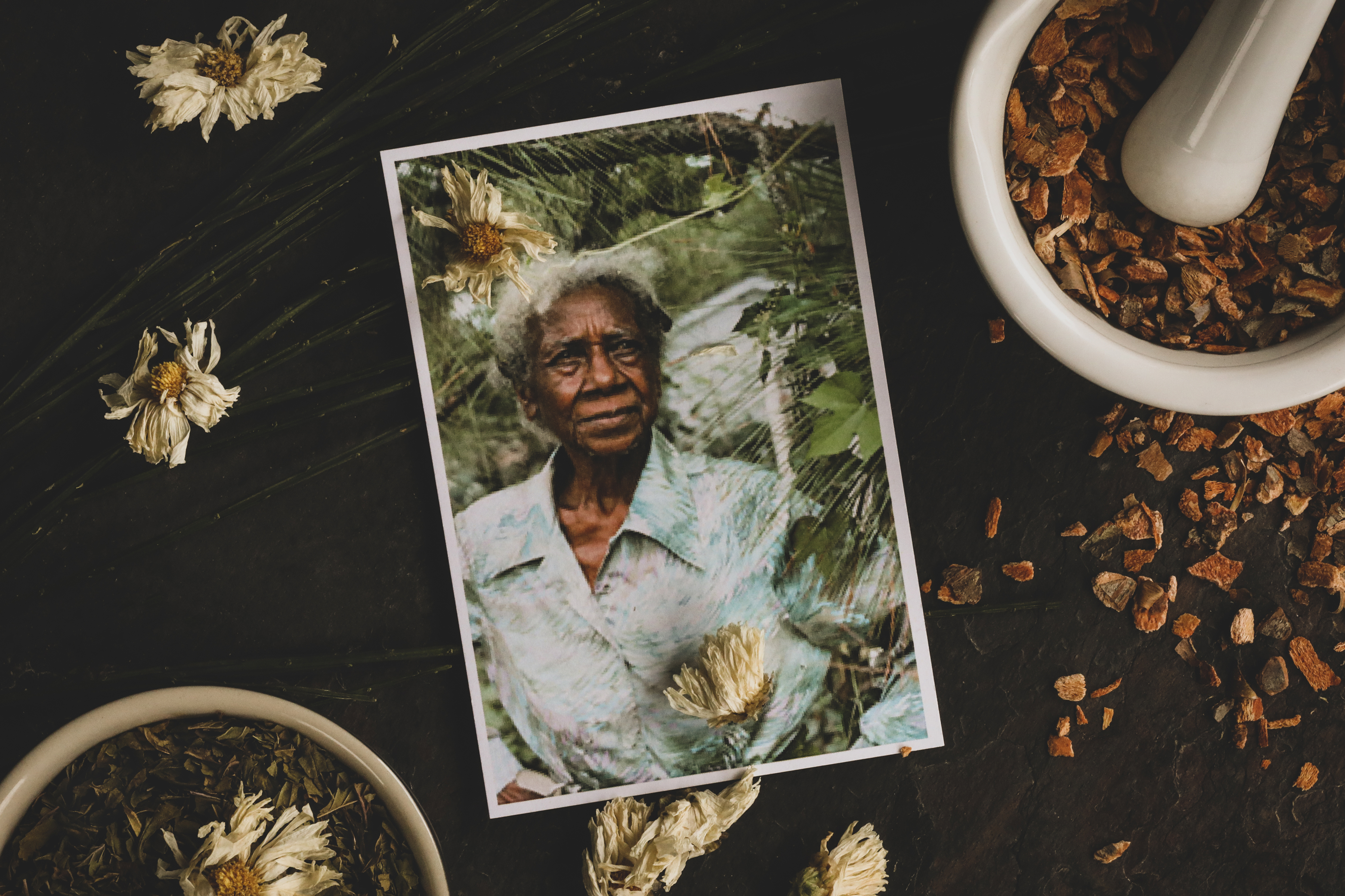 Emma Dupree, an herbalist and healer who brought herbal remedies to the people in her North Carolina community.