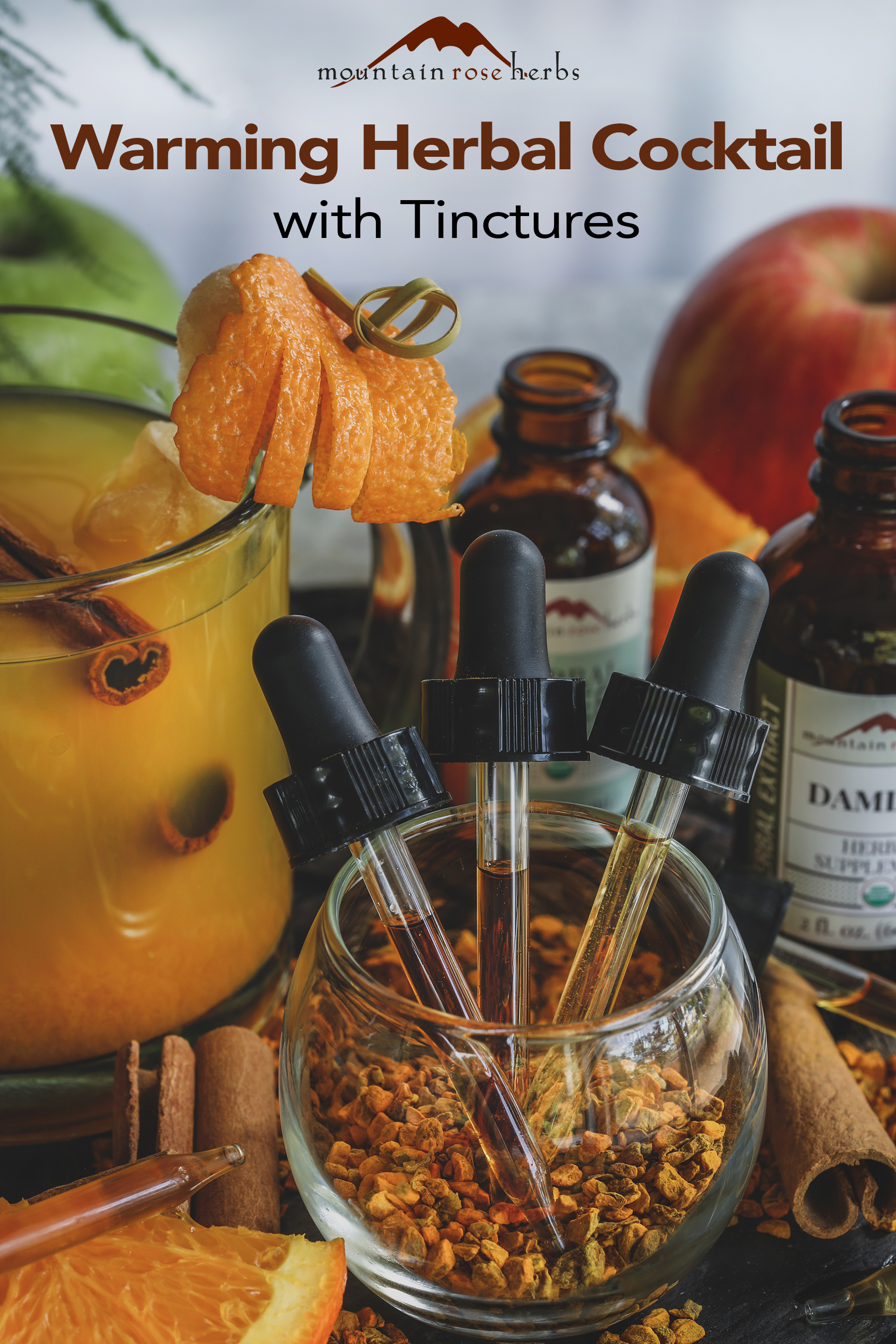 Pinterest Image for How to Make an Herbal Cocktail with Tinctures