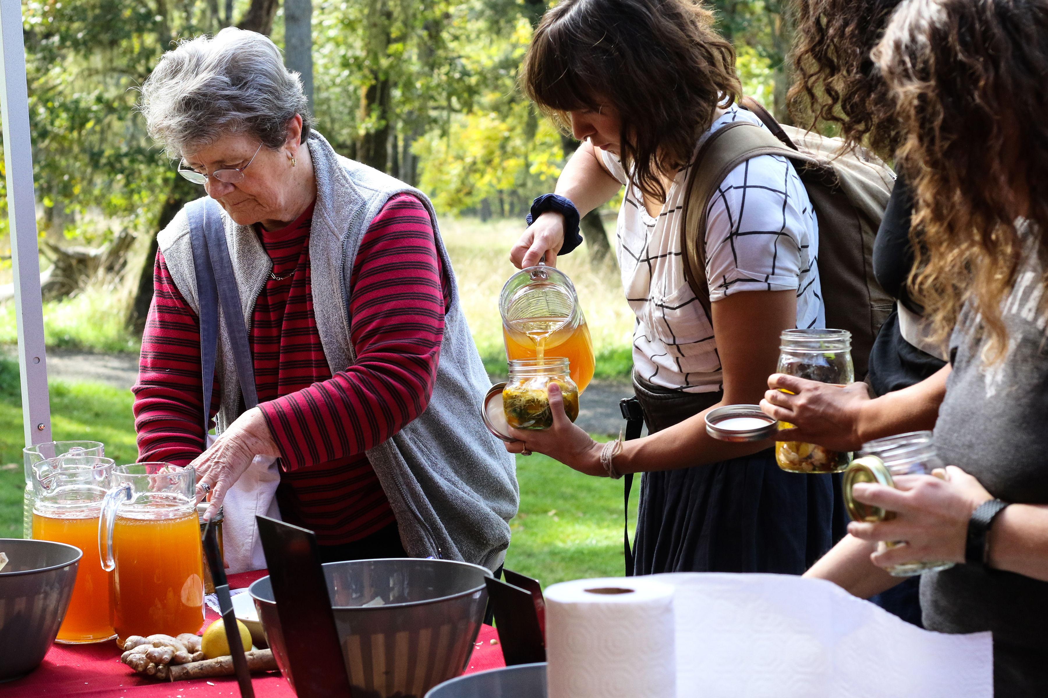 Participants create their own jars of fire cider, a natural tonic of apple cider vinegar and healthful herbs.