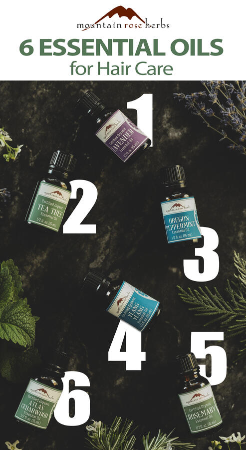 Pinterest Image for 6 Essential Oils for Hair Care