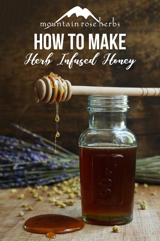 Pin for how to make herb infused honey
