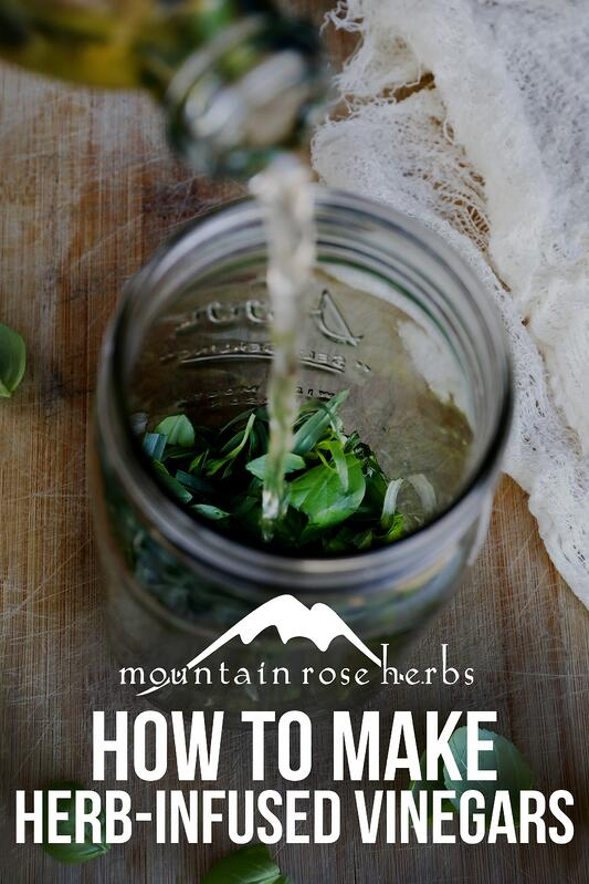 Pin to how to make herb infused vinegars