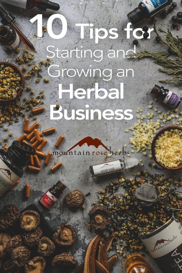 Herbal Business Tips on Pinterest