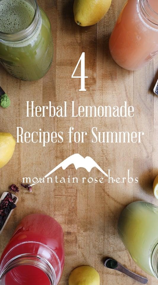 4 Homemade Herbal Lemonade Recipes Pinterest Pin from Mountain Rose Herbs