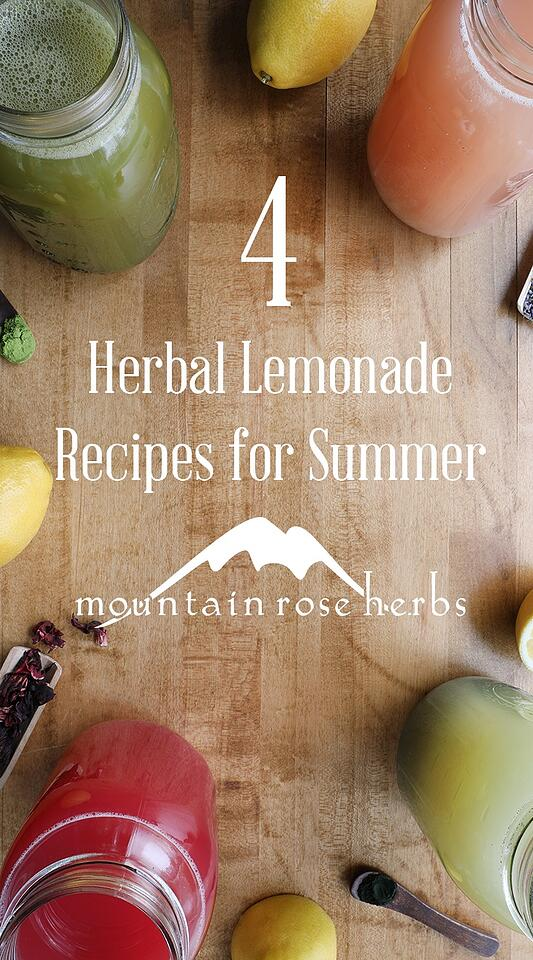4 Homemade Herbal Lemonade Recipes Pinterest Pin from Mountain Rose Herbs