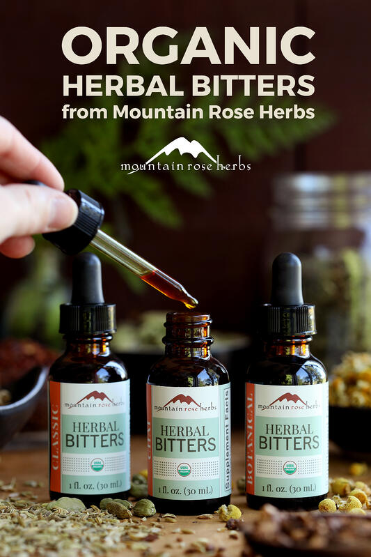 Herbal bitters pin by Mountain Rose Herbs