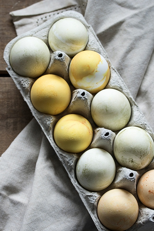 Herbal Dyed Eggs in Carton