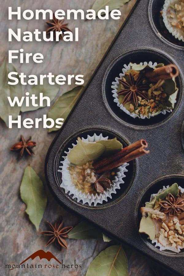 Pinterest image for Homemade Natural Fire Starters