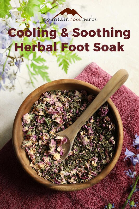 Cooling & Soothing Herbal Foot Soak from Mountain Rose Herbs