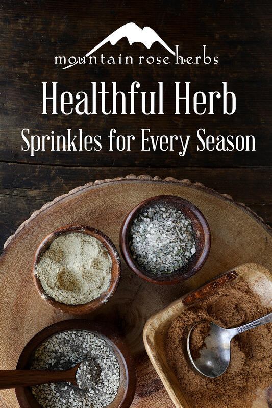 Pin to healthful herb sprinkles for every season