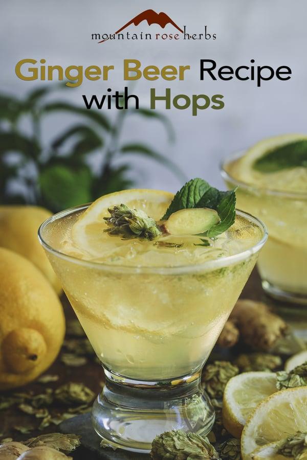 Hoppy ginger beer for Pinterest