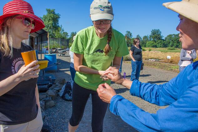 Mountain Rose Herbs employees at Mountain Rose River Project event