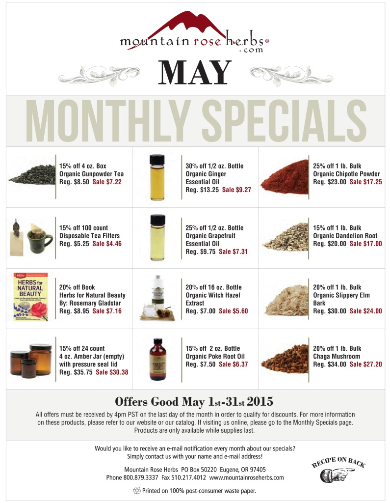 Sales & Discounts - Mountain Rose Herbs