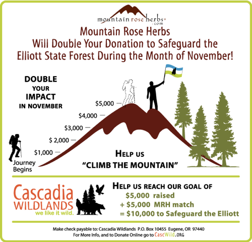 We Will Double Your Donation to Cascadia Wildlands!