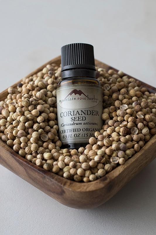New corriander essential oil