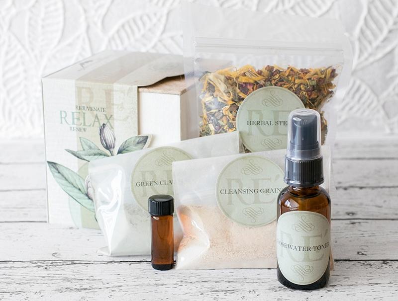 Herbal Facial Kit pieces