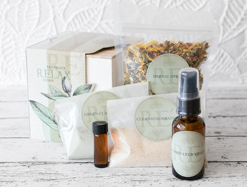 Herbal Facial Kit pieces