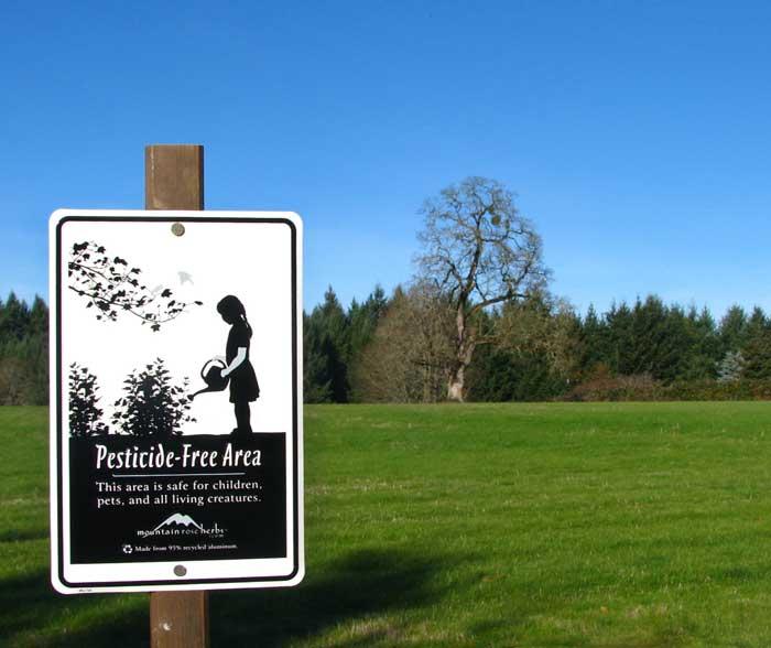 Pesticide-Free Area Sign