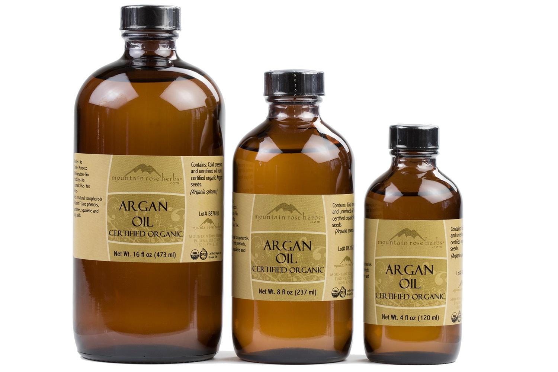 Oils in Brown Amber Bottles