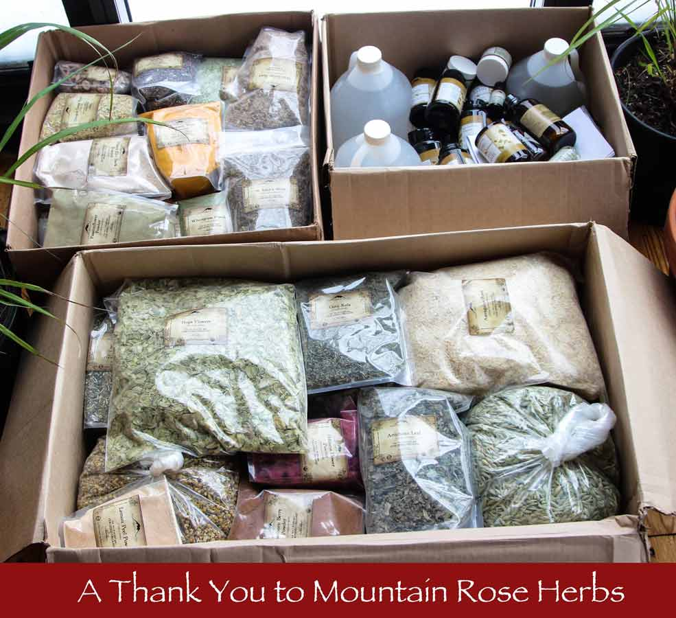 Ithaca Free Clinic Herb Donation from Mountain Rose Herbs